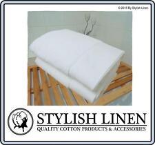 Bath Towels 6 Piece Set 100% Egyptian Cotton 650GSM New Bulk Buy Pieces White