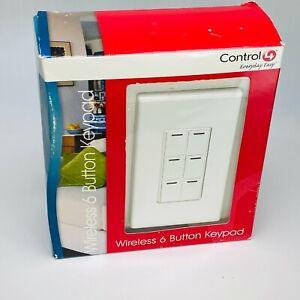 Control4 Control 4 KPZ-6B1 W Wireless 6 Button Keypad - White - NEW