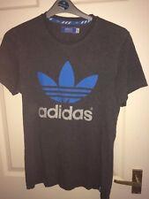 Adidas Pour Homme Gris Moyen T-shirt à manches courtes (Ex Cond)