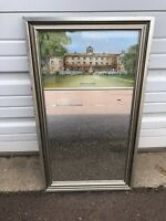 Vintage Haverford College Mirror Silver Black Frame Eglomise Design PA