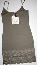 By timo ti Mo porteur-robe Dress tunique vintage dentelle kaki size: xs NEUF