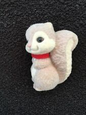 "Flocked Squirrel mini collection fantasy decor figurine Merry Miniature 1 3/4"""
