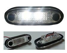 Flush Led White Front Marker Light 12v For Roof Bull Bar Side Step 4x4 Suv Van