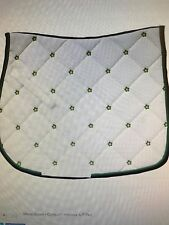 Centaur Hibiscus All Purpose A/P Saddle Pad White Pad Green Flowers Darling