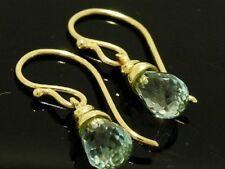 Hook Topaz Drop/Dangle Yellow Gold Fine Earrings