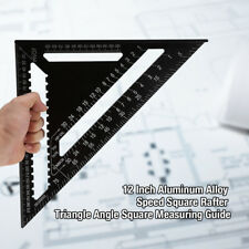 Speed Triangle Inch Miter Black Square 12'' 300mm Protractor Metric Rafter Tool