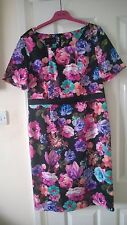 Daisy May Black Floral Designer Dress