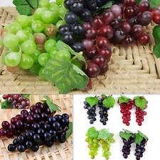 Bunch Lifelike Artificial Grapes Plastic Fake Fruit Home Decoration KX