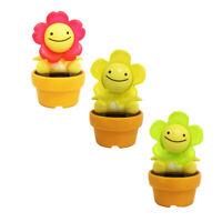 Smile Flower Flip Flap Solar Powered Dancing Swinging Toy Gift For Car BPG