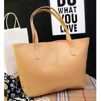 Fashion Ladies Handbag Shoulder Bag Tote Purse Women Leather Khaki Messenger Bag