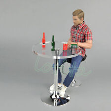 ZYTOYS 1/6 Scale Crystal Round Bar Desk & Chair & Beer Bottle Model Figure Toy