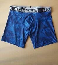 "Under Armour Mens UA Original Series 6"" Printed Boxerjock Size MD Blue"
