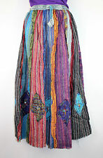Gypsy Patchwork Hippie Bohemian Festival Cotton Skirt Dress Handmade Nepal FT10