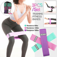 3pcs/Set Resistance Bands Latex Booty Yoga Loop Exercise Fitness Glute Gym