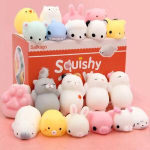 8pcs kawaii Mochi Squishy Toys Satkago Mini Mochi Animals Squeeze Stress Toys