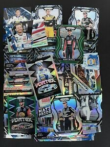 50 Card Lot 2018 Prizm Racing NASCAR Green Silvers And More Investor Lot