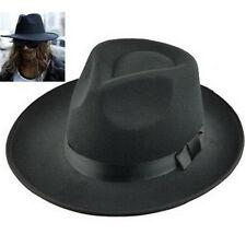 FD3933 Men's Vintage Retro Genuine Wool Felt Wide Brim Fedora Pork Pie Hat Cap^
