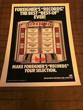 """1983 Vintage Album Promo Print Ad For Foreigner """"Records"""" Jukebox Selection"""