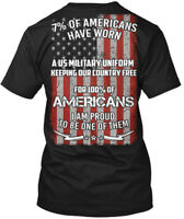 Americans Flag Funny Gift - 7% Of Have Worn A Us Hanes Tagless Tee T-Shirt
