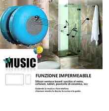 MINI SPEAKER BLUETOOTH CASSA AMPLIFICATA WIRELESS VIVAVOCE DOCCIA IMPERMEABILE