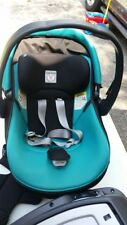 PEG PEREGO PRIMO VIAGGIO INFANT CAR SEAT WITH BASE AND COVER. AQUA MARINE COLOR.