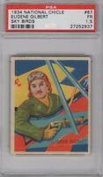 1934 National Chicle Sky Birds #87 Eugene Gilbert Graded PSA 1.5