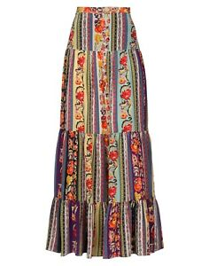 Etro Floral Maxi Boho Skirt Size 38 EU 2 US Spring 2019 $18000