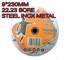 "10 x 9"" 230MM STEEL METAL  CUTTING DISC WHEEL THIN ANGLE GRINDER CUT OFF"