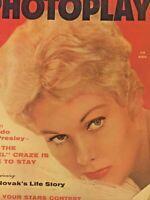 Vintage Collectible Movie Magazine Photoplay Kim Novak Cover Nov 1956