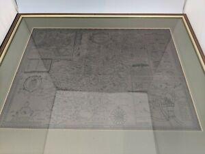 Framed Historic John Speed Map of Northamptonshire and Northampton #SH