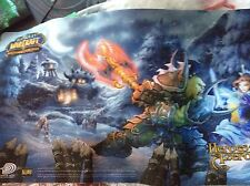 World Of Warcraft Heros Of Azeroth Trading Card Game Mat 2006 Euc Blizzard Ent.