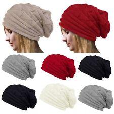 Unisexe Pour Hommes Femmes Tricot Bonnet Large Surdimensionné Chapeau Hiver Ski