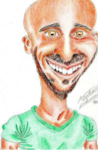 Personalised Colour Custom Caricature Portrait from photo