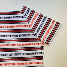 Vintage Tennis Menace Single Stitch Shirt Red White Blue Brady Bunch Style