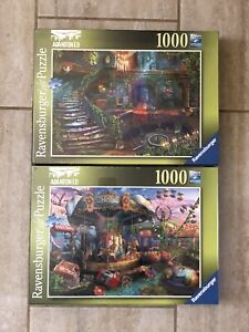 Ravensburger 1000 Pc Gloomy Carnival & Hotel Vacancy Abandoned Places puzzle NEW