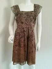Ladies Portmans size 12 dress floaty floral office formal