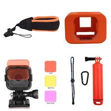 Floating Wrist Strap+Protective Case+Lens Filter Kit For GoPro Hero 4 5 Session