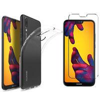 Huawei P20 Lite TPU Hülle Silikon Schutzhülle Cover Bumper Case+ PANZERGLASFOLIE
