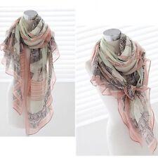 1PC elegante donna ragazza cotone stampa lunga sciarpa scialle L PASHMINA ESTATE INVERNO