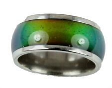 Mood Rings 10mm Solid Heavy Gauge Stainless Steel Comfort Fit Band 70's Style
