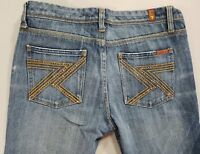 """7 For All Mankind Womens Jeans Flynt Boot Cut Mid Rise Size 30 x  32.5"""" Long"""