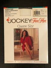 Jockey for Her queen pantyhose lot of 2 white, warm beige