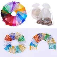 US 50~200 Sheer Coralline Organza Favor Gift Bags Jewelry Pouches Wedding Party