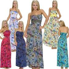 Geblümte ärmellose Damenkleider im Empire-Stil