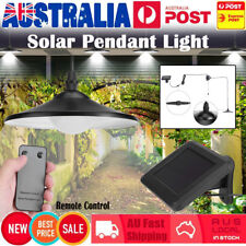 Garden Solar Power Pendant Light Bright LED Lamp Remote Control Sheds Hanging AU