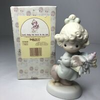 Enesco Precious Moments Samuel Butcher Lord Help Me Stick To My Job 521450 1989