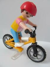 Playmobil dollshouse/playground figure: Little girl (short hair) and bike NEW