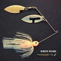 Bassdozer spinnerbaits 3/8 oz H. WHITE PEARL spinnerbait spinner baits