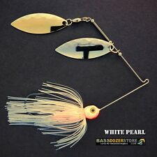 Bassdozer spinnerbaits 3/8 oz H. WHITE PEARL spinner bait lures