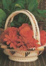 Crochet Pattern ~ Navajo Indian Basket ~ Instructions
